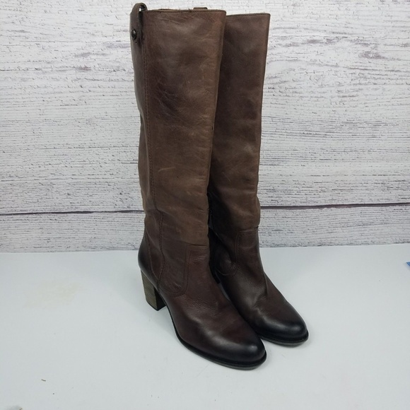 6aa53a4de06 Vincew Camuto Gianna Brown Tall Leather Boots 9.5.  M 5c27cae0c89e1dfeb5bf2de5